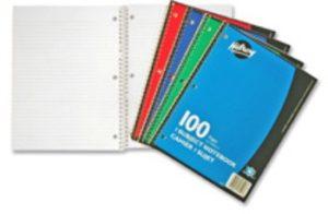 Notebook 8.5 x 11