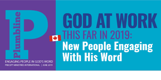GOD AT WORK THIS FAR IN 2019: New People In God's Word.