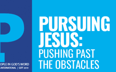 Pursuing Jesus: PUSHING PAST THE OBSTACLES